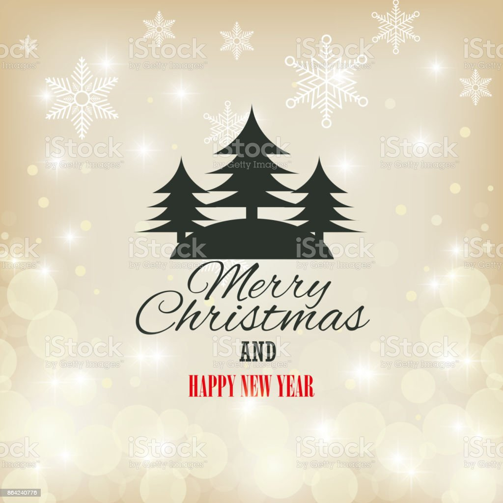 card merry christmas and happy year with christmas tree graphic royalty-free card merry christmas and happy year with christmas tree graphic stock vector art & more images of abstract