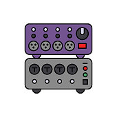 Card, music, audio icon. Element of color music studio equipment icon. Premium quality graphic design icon. Signs and symbols collection icon