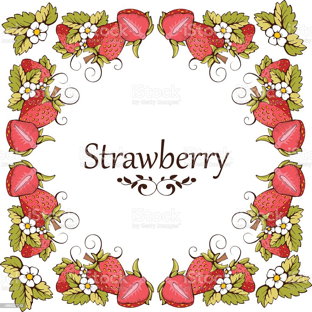 Card of strawberry stock vector art more images of 2015 card of strawberry royalty free card of strawberry stock vector art amp more images kristyandbryce Images