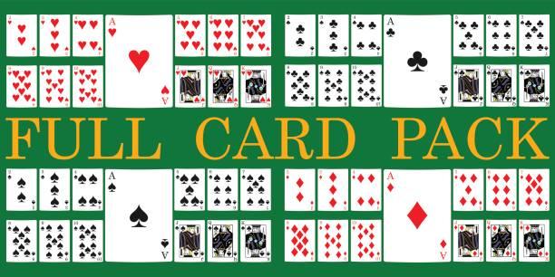 karten-pack - kartenspielen stock-grafiken, -clipart, -cartoons und -symbole