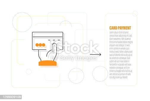 istock Card Payment Line Icon Design 1299939109