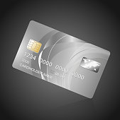VIP Card silver on black