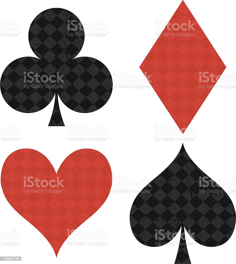 Card Suits royalty-free stock vector art