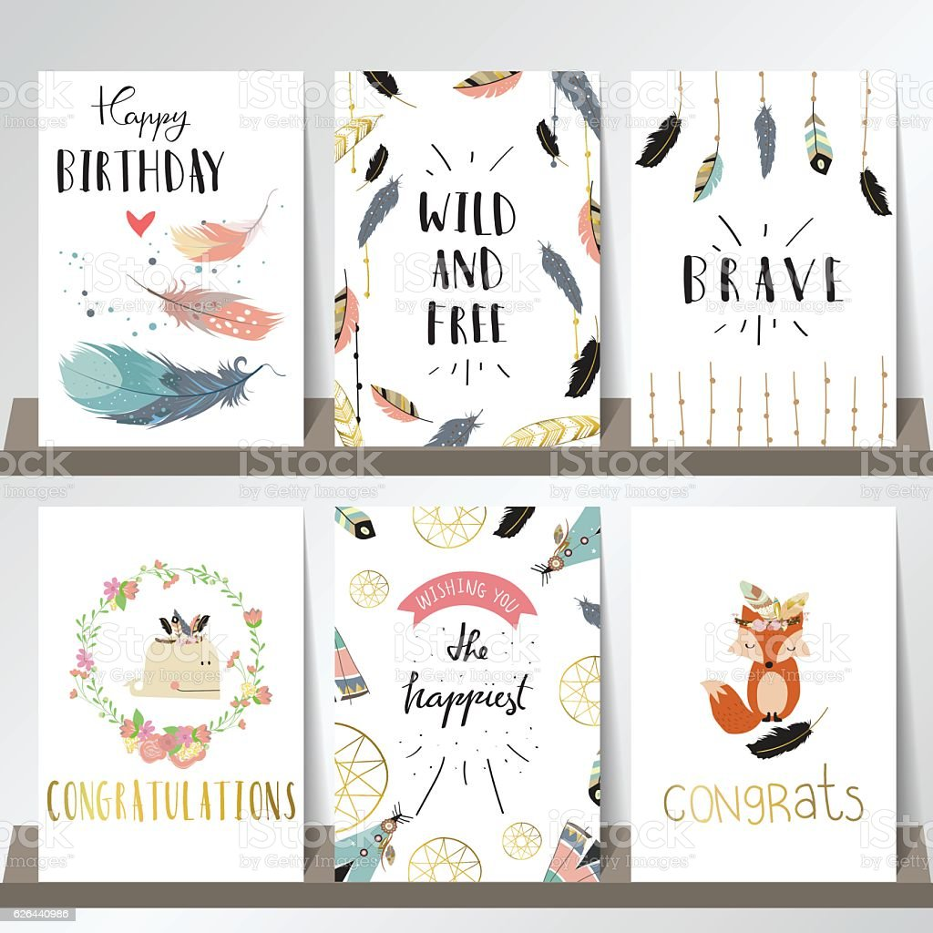Card template collection for banners,Flyers,Placards with wreath vector art illustration
