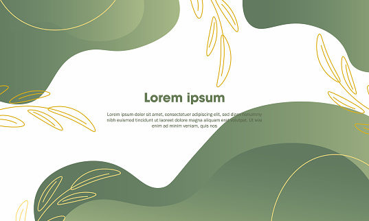 card template design with leaves and flowers