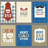Card template for father's day