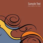 Card template -illustration