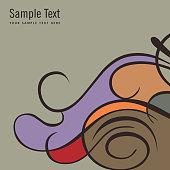 Card template - illustration