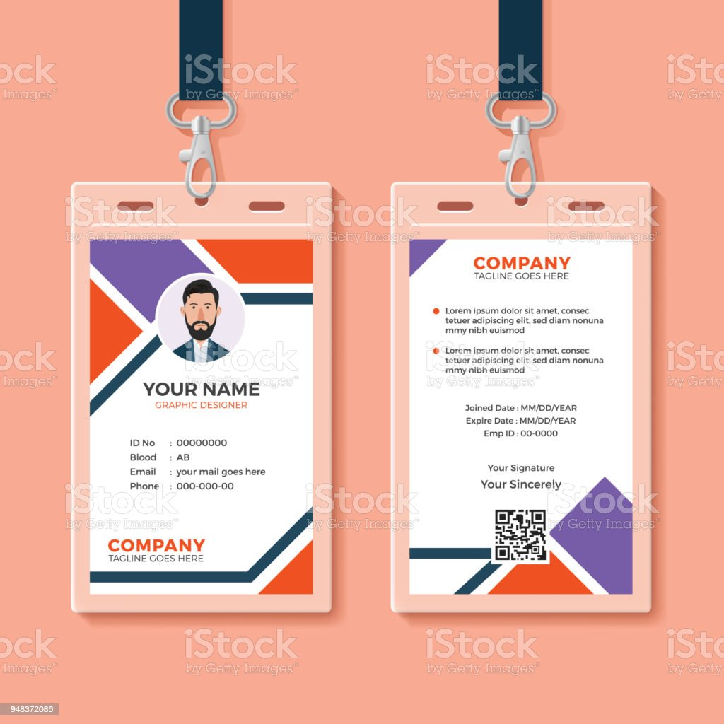 Id Card Template Stock Vector Art & More Images of Abstract ...