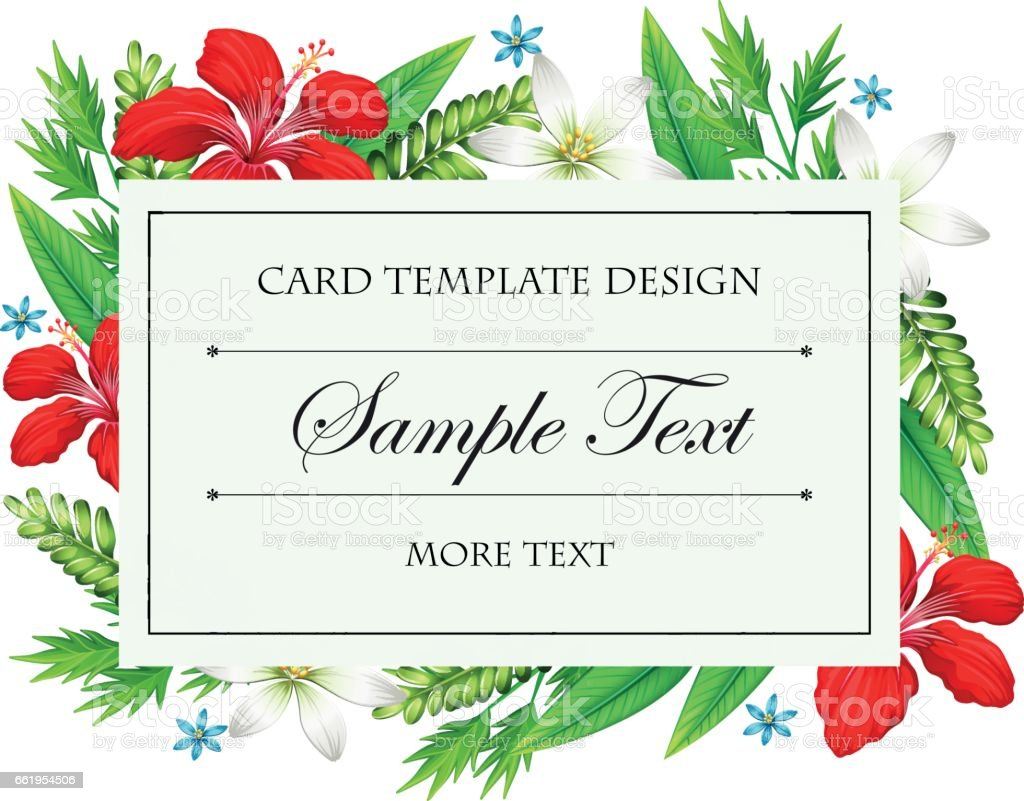 Card template with different types of flowers stock vector art card template with different types of flowers royalty free card template with different types of kristyandbryce Images