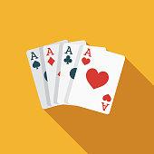 istock Card Trick Flat Design April Fools Day Icon 1084651510