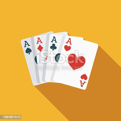 istock Card Trick Flat Design April Fools Day Icon 1084651510