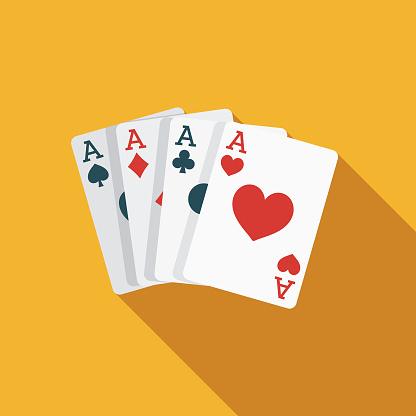 Card Trick Flat Design April Fools Day Icon