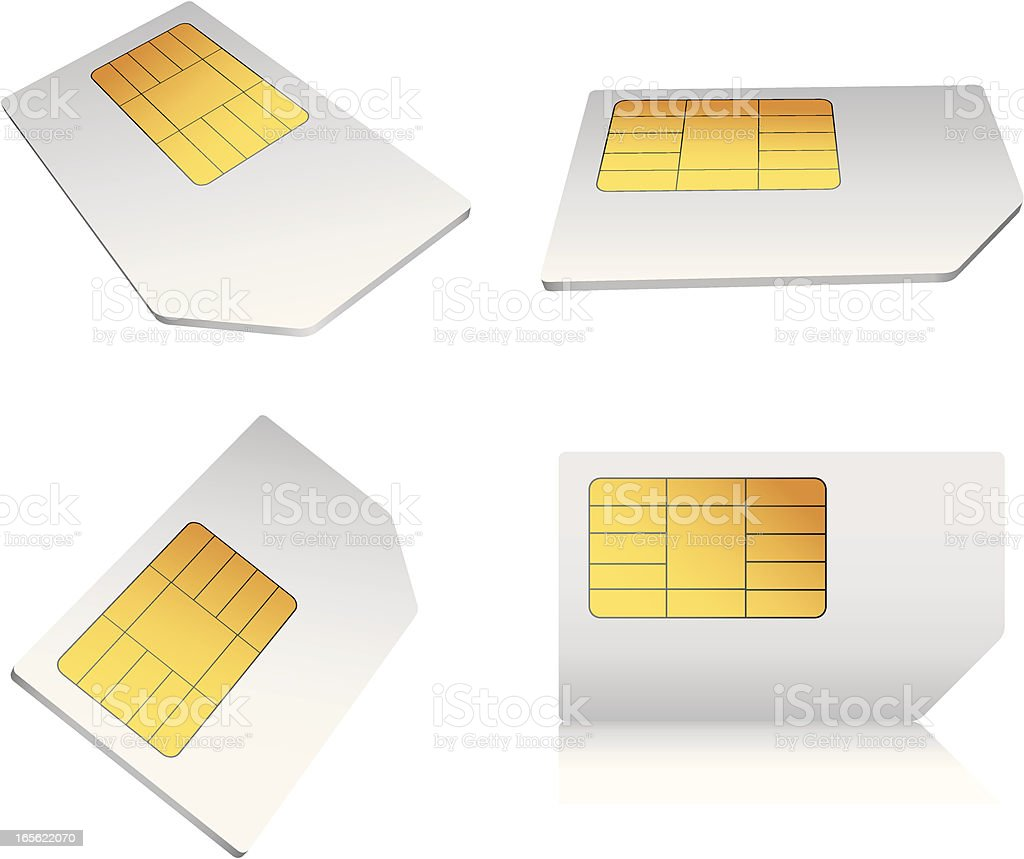 SIM Card royalty-free stock vector art