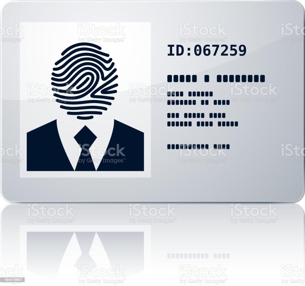 Ilustración de Tarjeta De Identificación y más banco de imágenes de ...