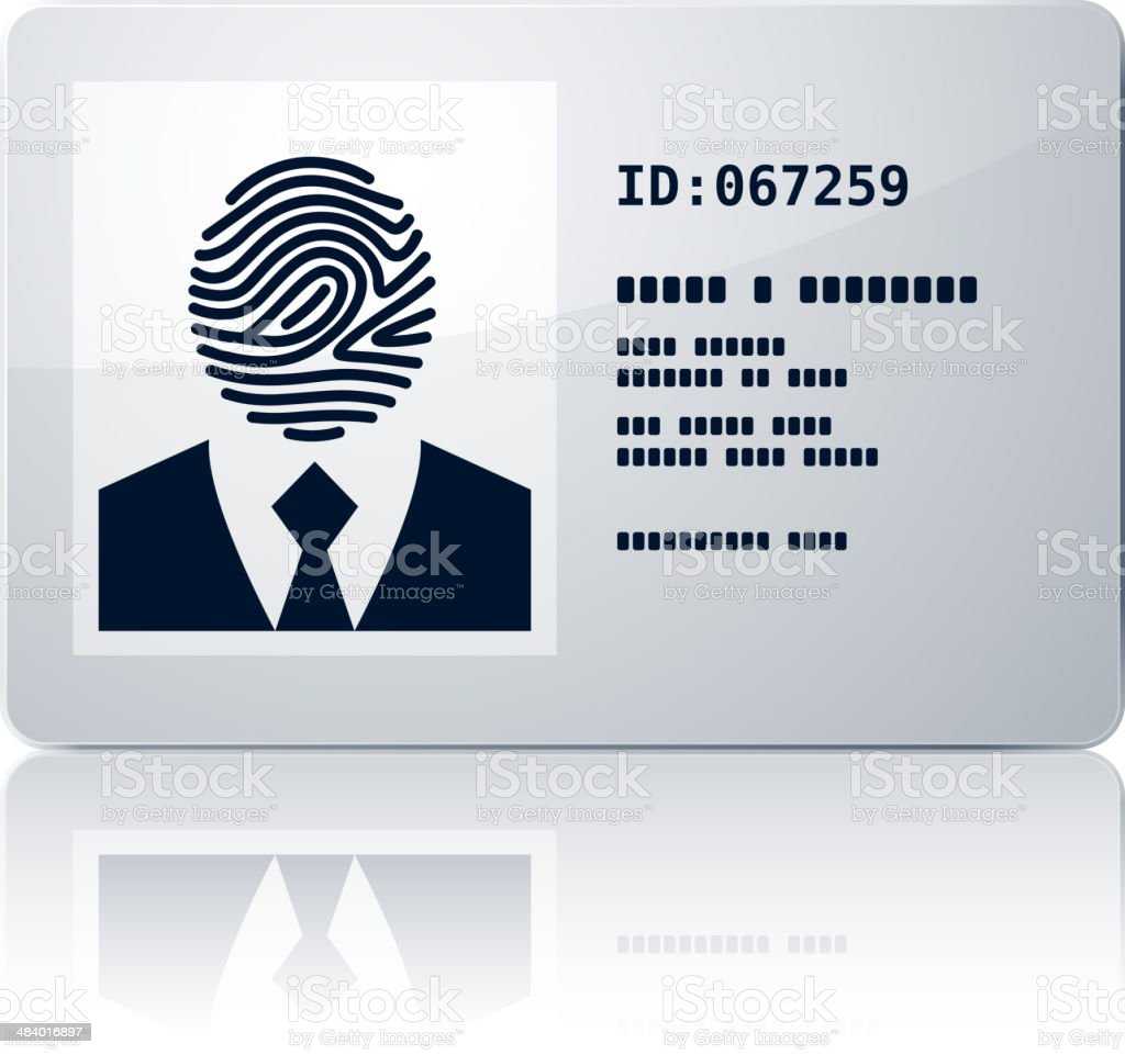 ID card vector art illustration