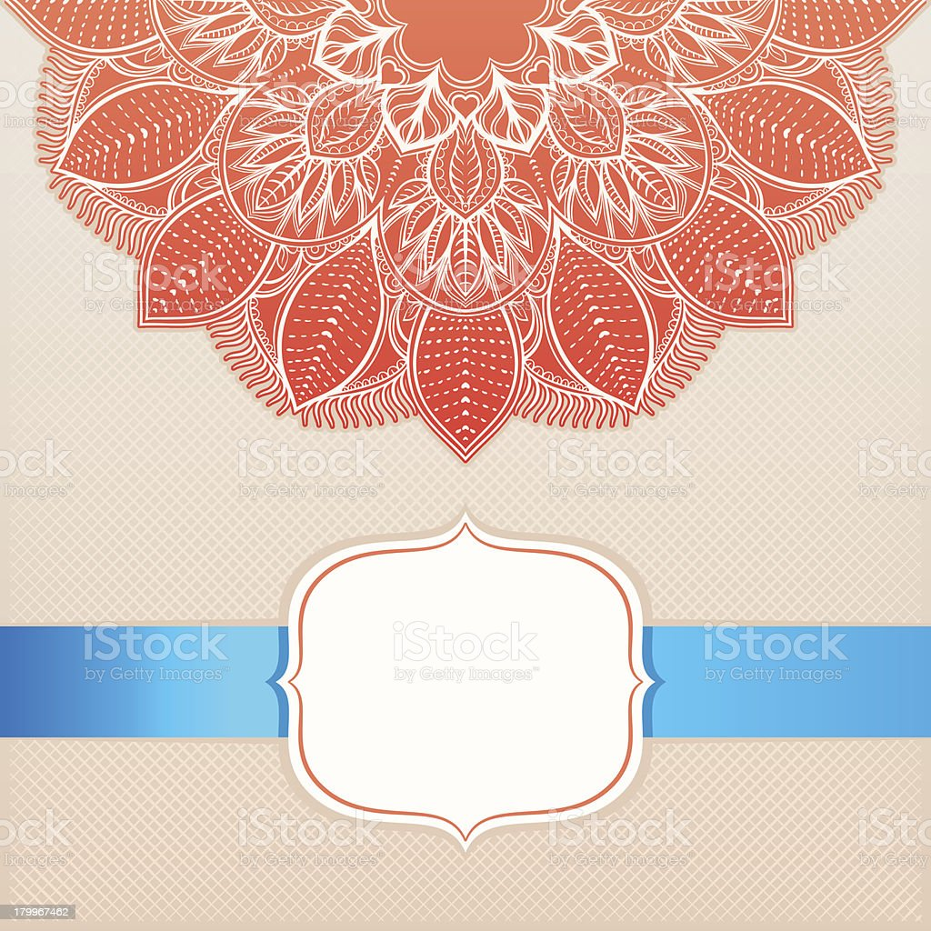 card with a circular ornament - 2 royalty-free stock vector art