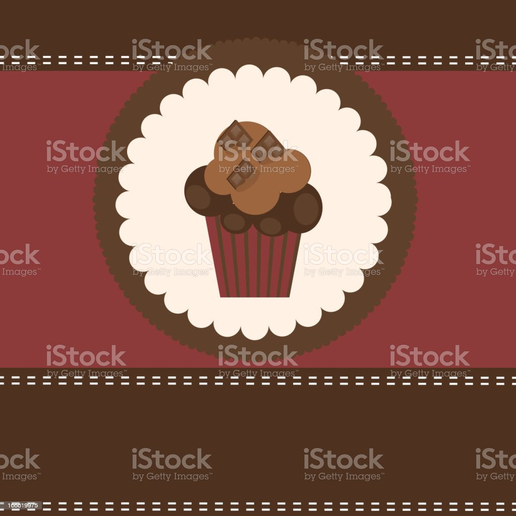 Card with a cupcake. vector illustration royalty-free card with a cupcake vector illustration stock vector art & more images of abstract