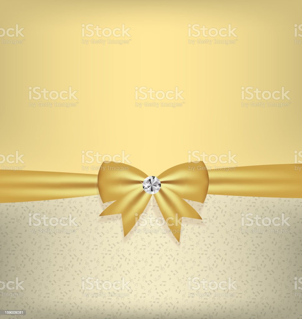 Card with bow and ribbon vector illustration royalty-free stock vector art