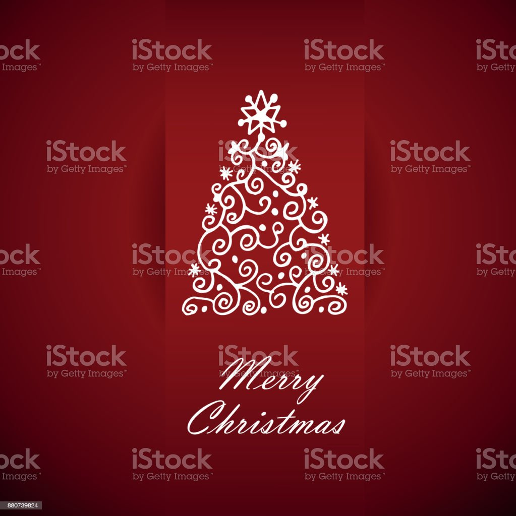 Card With Christmas Greetings Vector Illustration Stock Vector Art