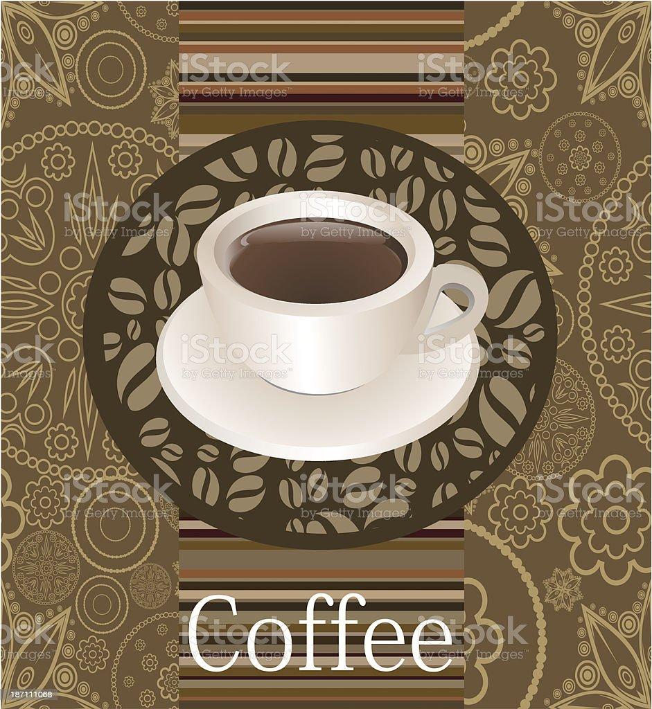 Card with coffee mug. royalty-free stock vector art