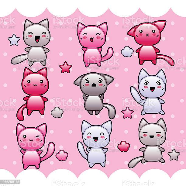 Card with cute kawaii doodle cats vector id166295135?b=1&k=6&m=166295135&s=612x612&h=uvpizbdic9igq2dl54thrx f7wy3vkbyi2sfowmm0sq=