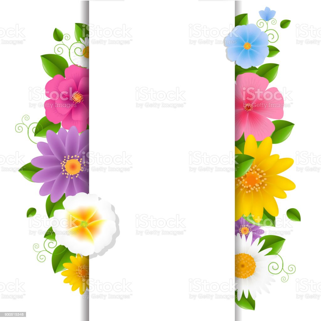 Card with flowers stock vector art more images of beauty 930515348 card with flowers royalty free card with flowers stock vector art amp more images izmirmasajfo