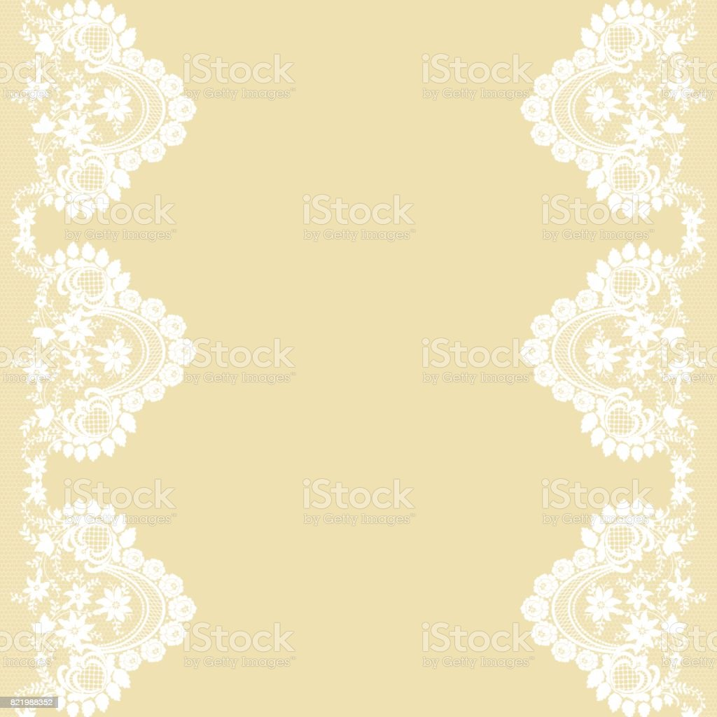 Card with lace vector art illustration