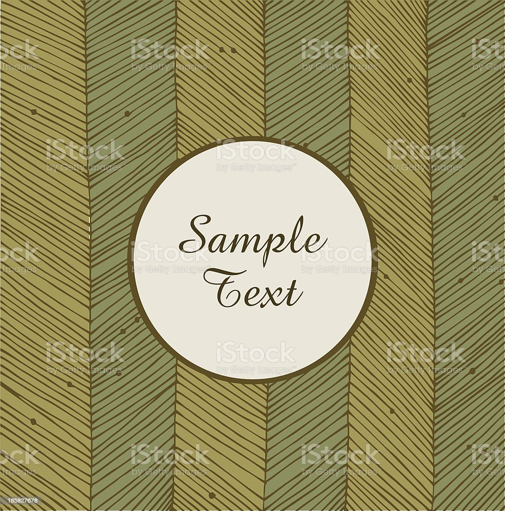 Card with linear network texture. Banner round frame royalty-free stock vector art