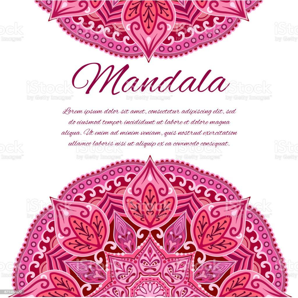 Tarjeta Con Mandala Elemento Del Círculo De Boda - Arte vectorial de ...