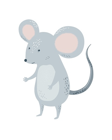 Card with mouse or rat