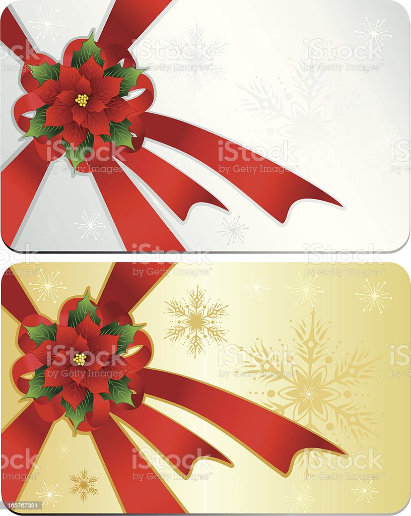 Card with Poinsettia royalty-free stock vector art
