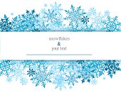 card with snowflakes
