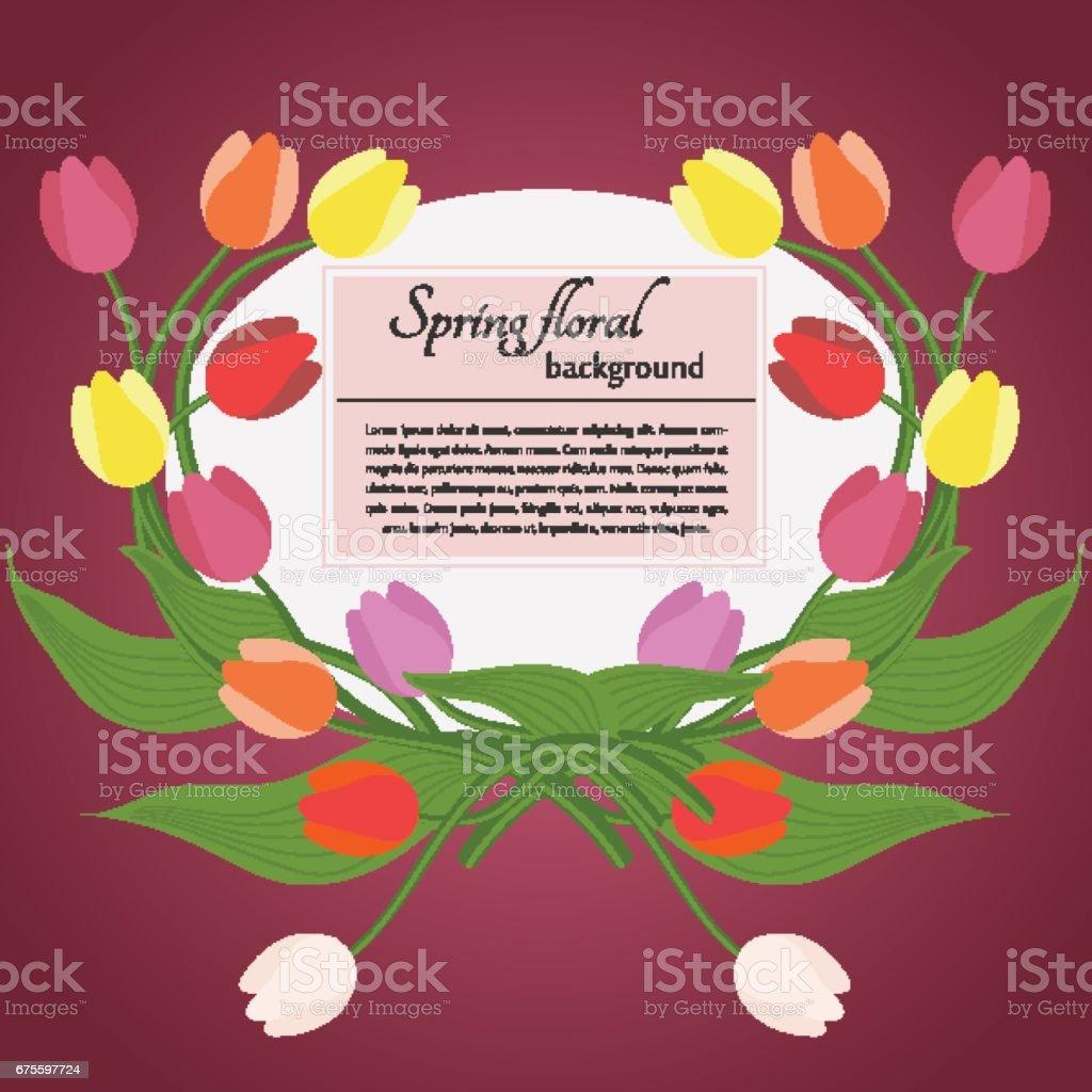 Carte printemps tulipes et texte simple sur un fond rose carte printemps tulipes et texte simple sur un fond rose – cliparts vectoriels et plus d'images de abstrait libre de droits