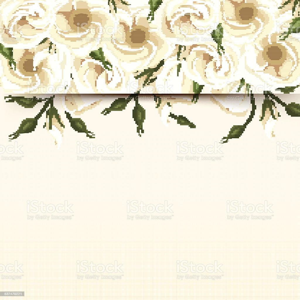 Card With White Lisianthus Flowers Vector Eps10 Stock Vector Art