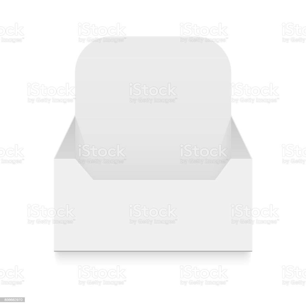 POS POI Cardboard Blank Empty Display Show Box Holder For Advertising Fliers, Leaflets, Products. Vector illustration vector art illustration