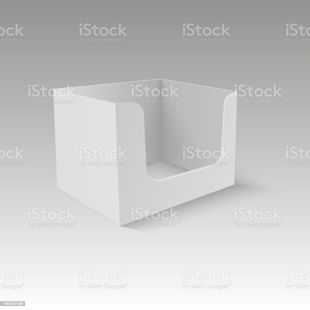 Pos poi cardboard blank empty display show box holder vector mock up pos poi cardboard blank empty display show box holder vector mock up template ready for maxwellsz