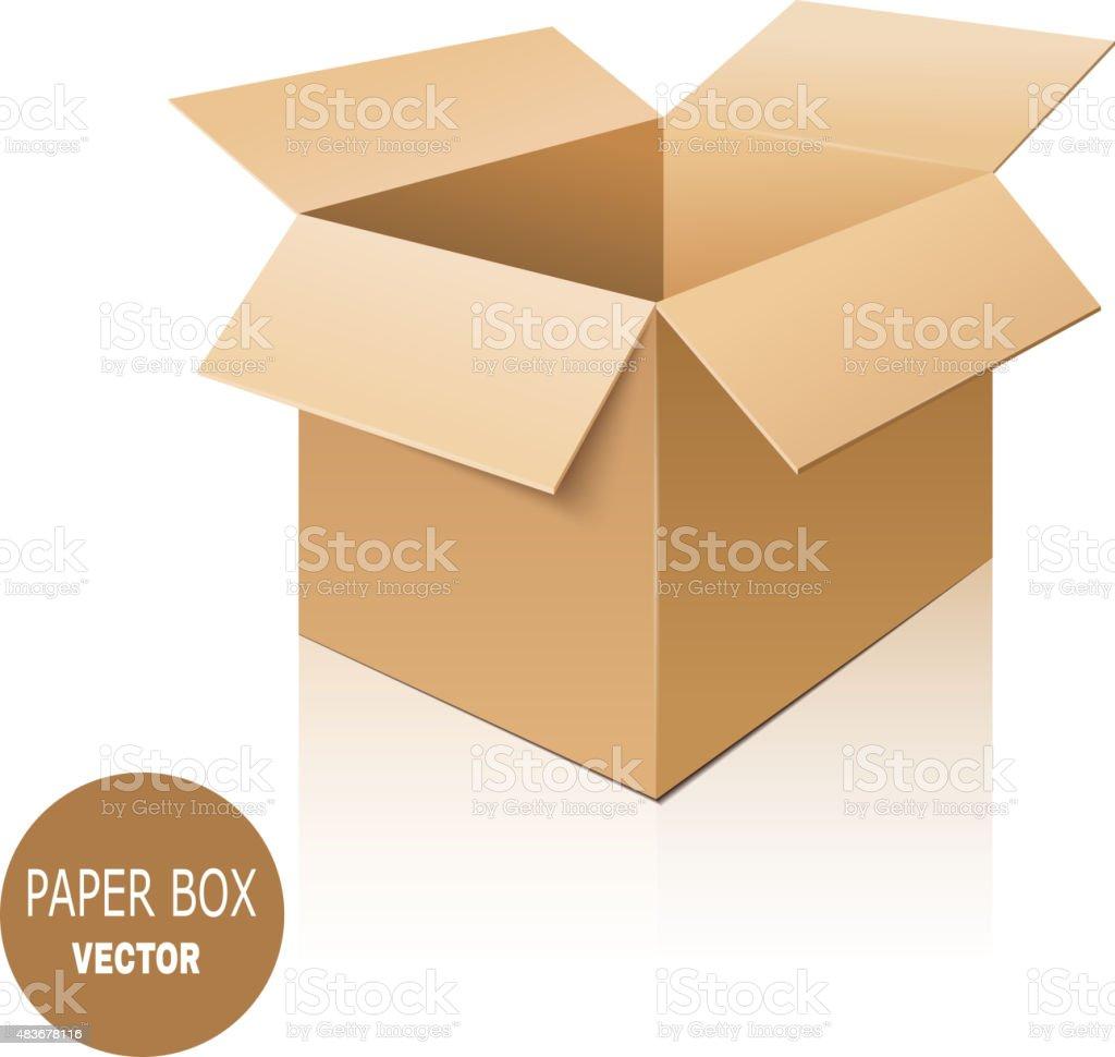 Cardboard box isolated on white background. Vector illustration. vector art illustration