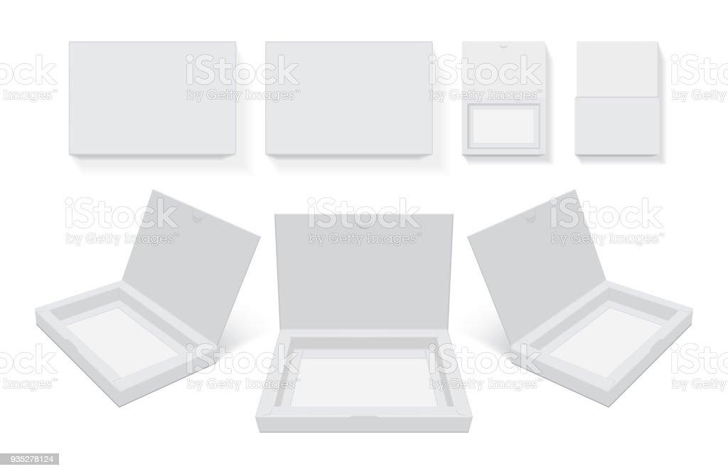 Boîte en carton ouvert - Illustration vectorielle