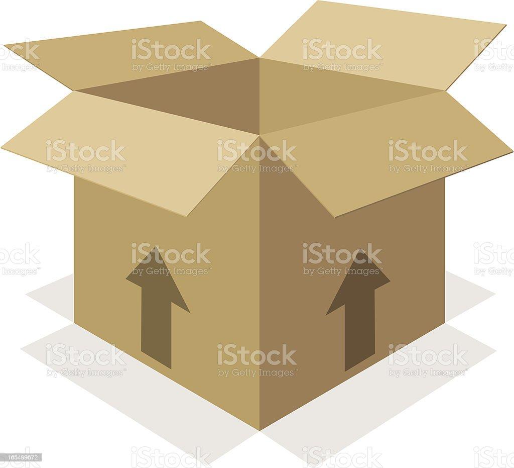 Cardboard Box Packaging royalty-free stock vector art