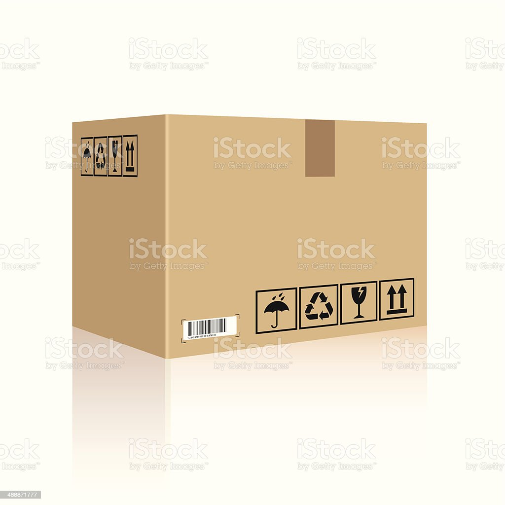 Cardboard box vector art illustration