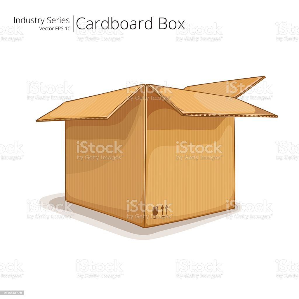 Cardboard Box. vector art illustration