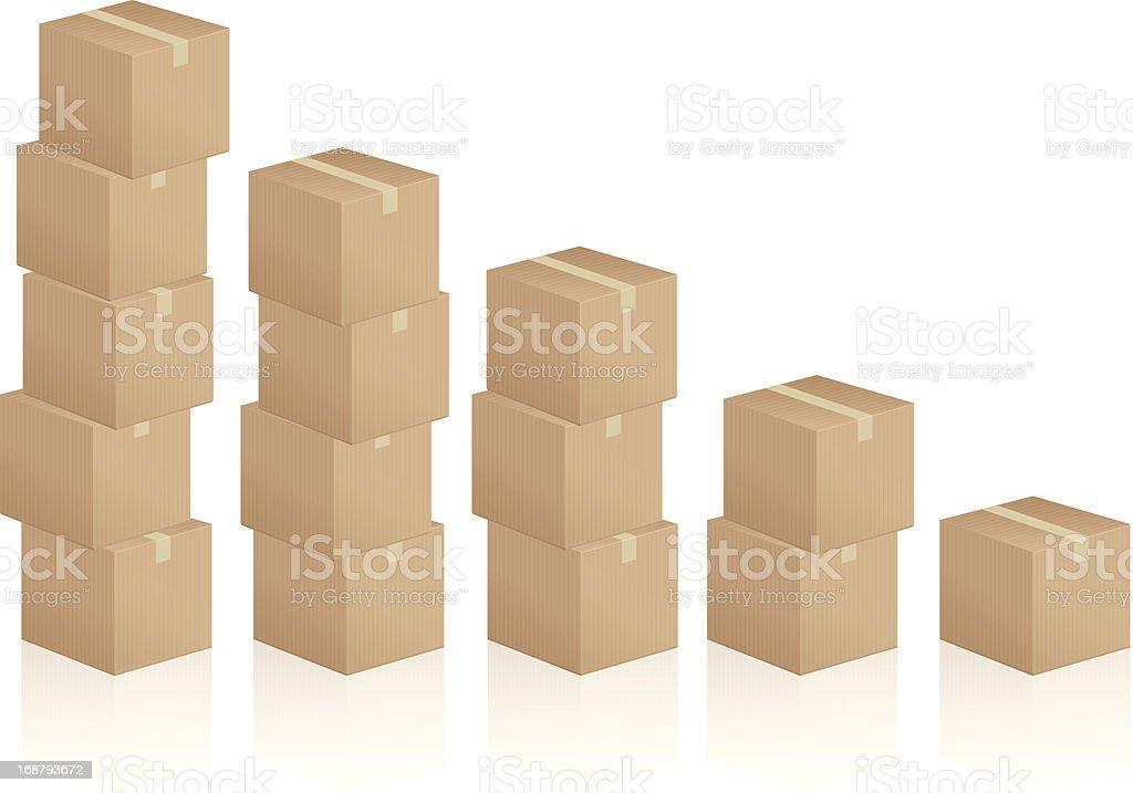 Cardboard Boxes Diagram Stock Illustration