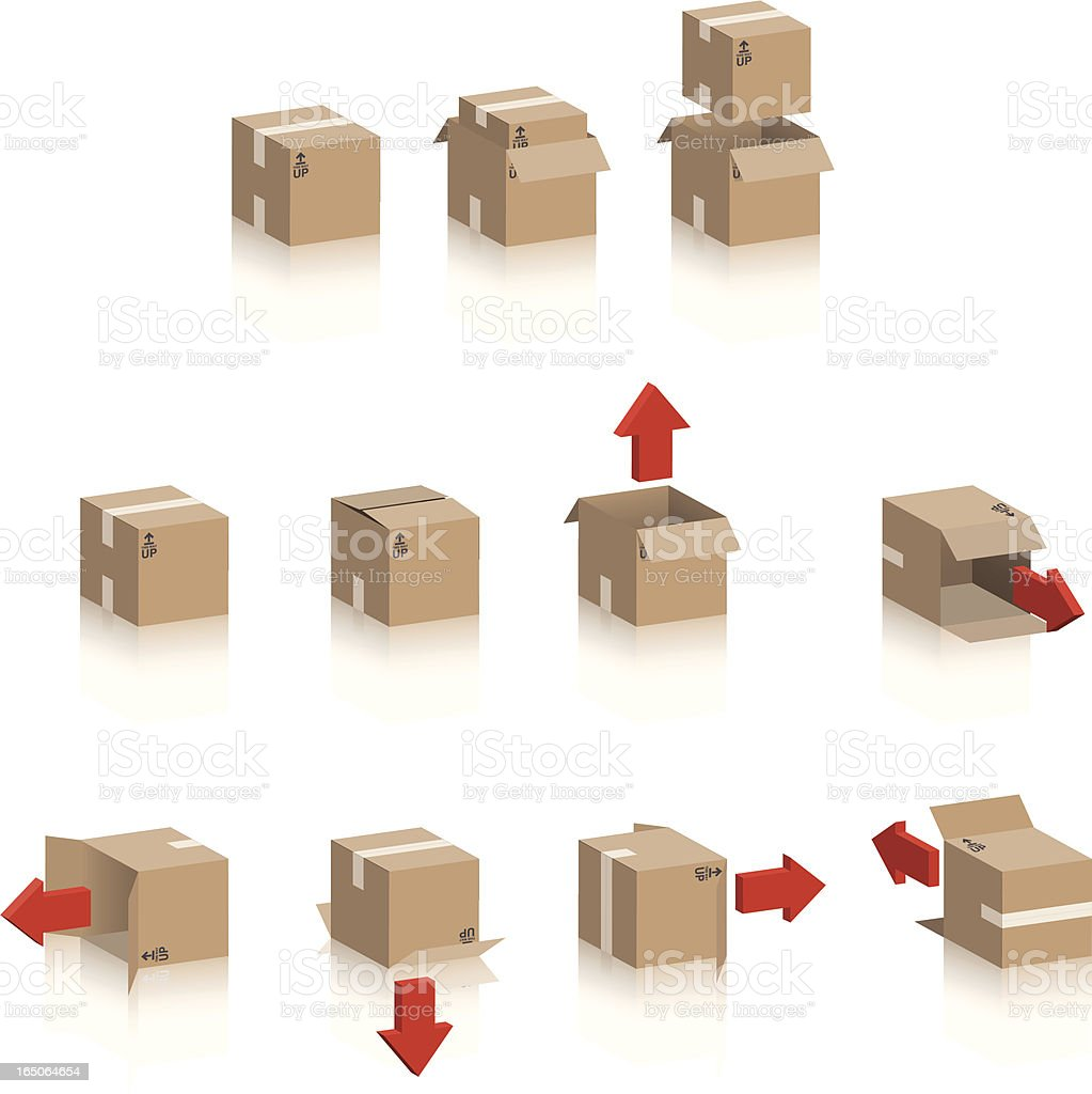 Cardboard Boxes royalty-free cardboard boxes stock vector art & more images of adhesive tape