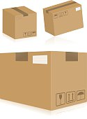 3 different cardboard boxes. Each one is layered and grouped. In zip file you can find aics3 and hi-res jpg as well.