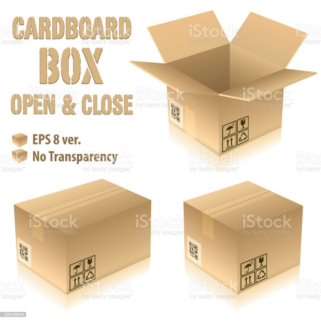 Cardboard Boxes royalty-free stock vector art