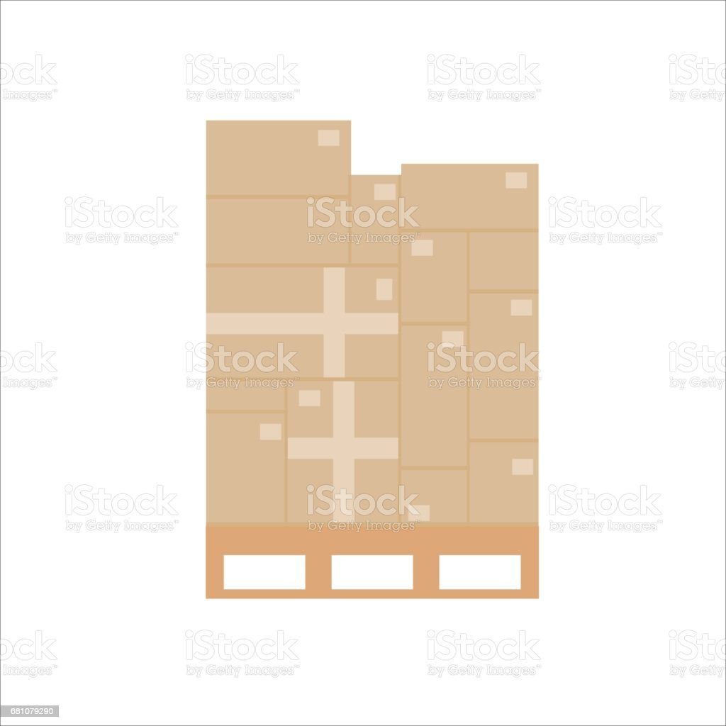 Cardboard boxes royalty-free cardboard boxes stock vector art & more images of box - container