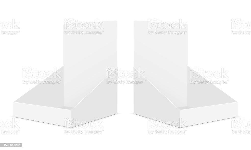 Cardboard display boxes mockups vector art illustration