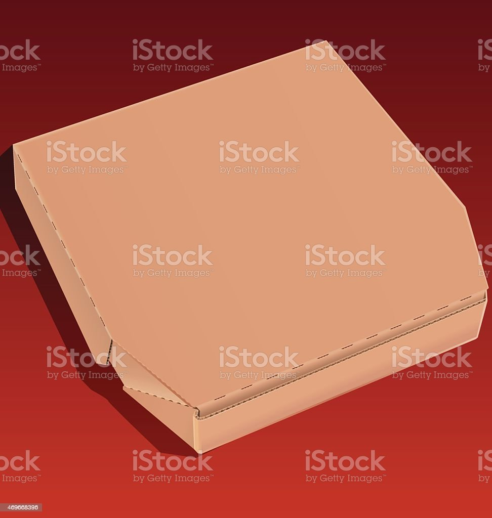 Cardboard pizza box vector art illustration