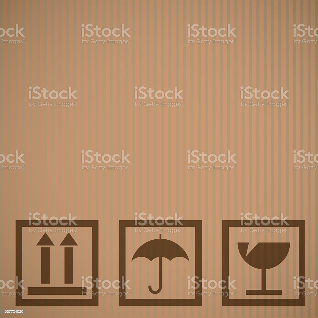 Cardboard texture background vector art illustration